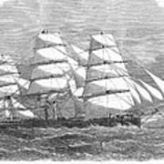 Screw Steamship, 1864 Poster