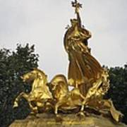 Sculpture Of Columbia Triumphant  Poster