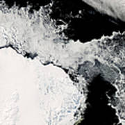 Sea Ice In The Southern Ocean Poster