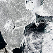 Sea Ice Lines The Coasts Of Sweden Poster