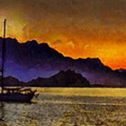 Sea Of Cortez Sunset In Baja Poster