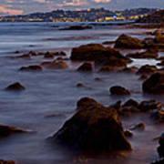 Sea Rocks Land Poster