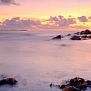 Seafield Sunset Poster