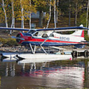 Seaplane On Moosehead Lake In Maine Canvas Photo Poster Print Poster