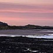 Seashore At Sunset, Northumberland Poster