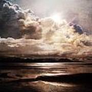 Seaside Cloudscape Poster