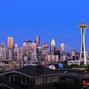 Seattle Skyline 3 Poster