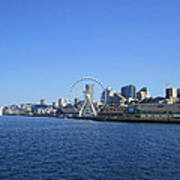 Seattle Waterway Cityscape Poster