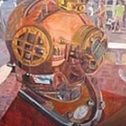 Seaworld Copper Diving Helmet Poster