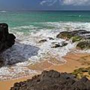 Secret Beach Kauai Poster