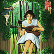 Secret Garden Fantasy Fairy Poster
