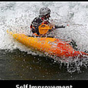 Self Improvement With Caption Poster