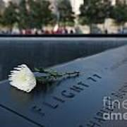 September 11 Memorial Flower Poster