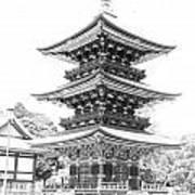 Serene Temple Poster