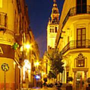 Sevilla At Night Poster