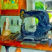 Sewing Machine In Harness Room Poster