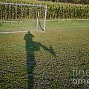 Shadow From A Football Player Poster