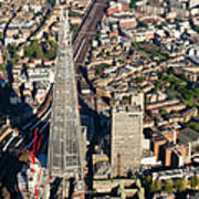 Shard London Aerial View Poster