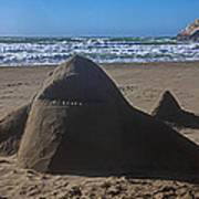 Shark Sand Sculpture Poster