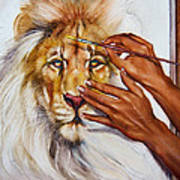She Paints Him  Poster by Martin Katon