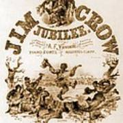 Sheet Music Cover Titled, Jim Crow Poster