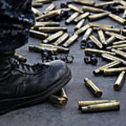 Shell Casings From A .50 Caliber Poster