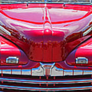 Shiny Red Ford Convertible. Poster