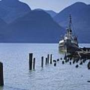 Shipping Freighter In Squamish British Columbia No.0201 Poster