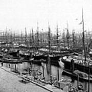 Ships In Harbour 1900 Poster