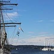 Ships In Oslo Harbor Poster
