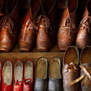 Shoemaker - Shoes Worn In Life Poster by Mike Savad