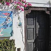 Shop On The Corner Santorini Poster