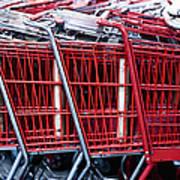 Shopping Carts Poster by Sam Bloomberg-rissman