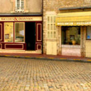 Shops In Beaune France Poster