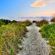 Shoreline Path To View Morris Island Lighthouse Poster by Jenny Ellen Photography