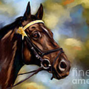 Show Horse Painting Poster