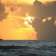 Shrimp Boat Sunrise Poster
