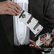 Shuffling Cards Poster