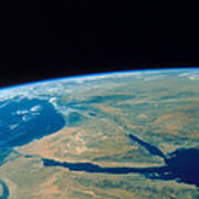 Shuttle Photograph Of The Middle East Poster by Nasa