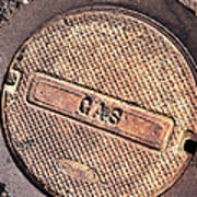 Sidewalk Gas Cover Poster
