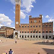 Siena Piazza Del Campo With Palazzo Pubblico Poster