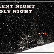 Silent Night Card Poster
