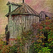 Silo In Overgrowth Poster