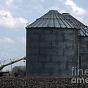 Silos And Augers Poster