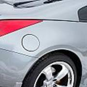 Silver 350z Nissan Poster