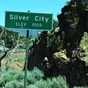 Silver City Nevada Poster