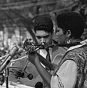 Singer Odetta At The 1963 Civil Rights Poster by Everett
