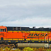 Single Bnsf Engine Poster