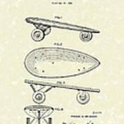Skateboard Coaster Car 1948 Patent Art  Poster