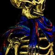 Skeleton Fashion Victim Poster